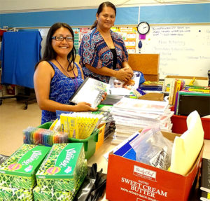 Providing school supplies and more to families at Kalihi-Waena Elementary School