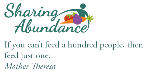 graphic text and art: Sharing Abundance