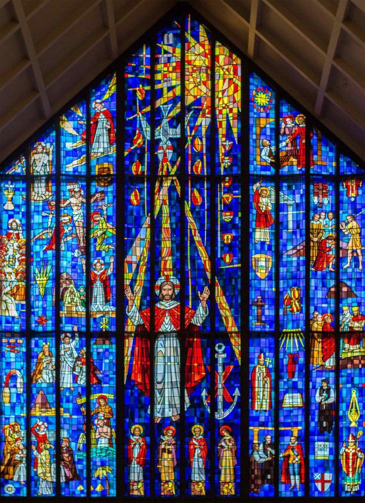 photo: the stained glass window at the Cathedral of St. Andrew in Honolulu, Hawaii.