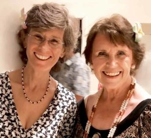 photo: Anne Murphy and Elizabeth Conklin at the Abundance Luau (November 2017)