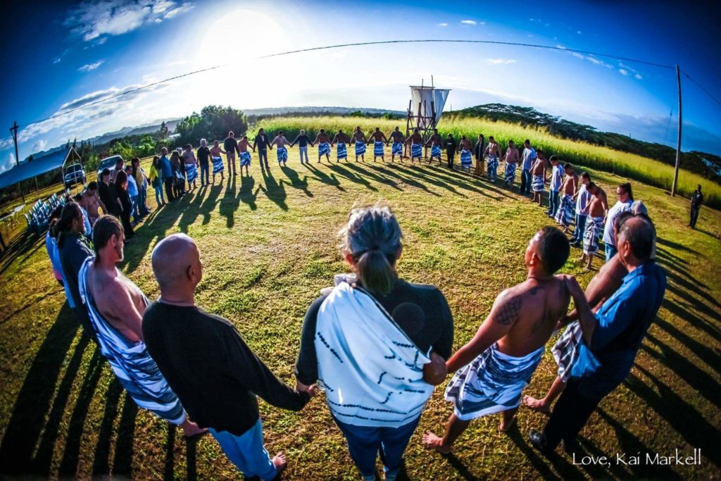 photo: circle at Makahiki celebration
