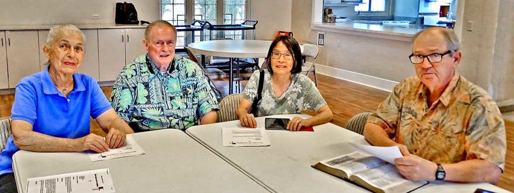 photo: Bible study at the Cathedral of St. Andrew (Honolulu, HI)