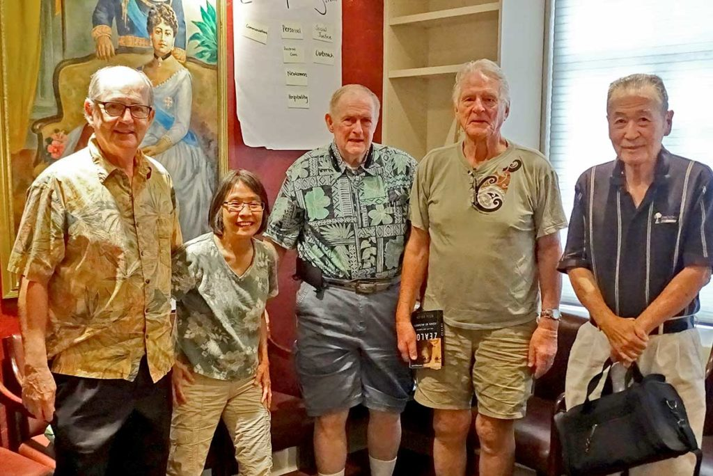 photo: four members of the Christian Book Club