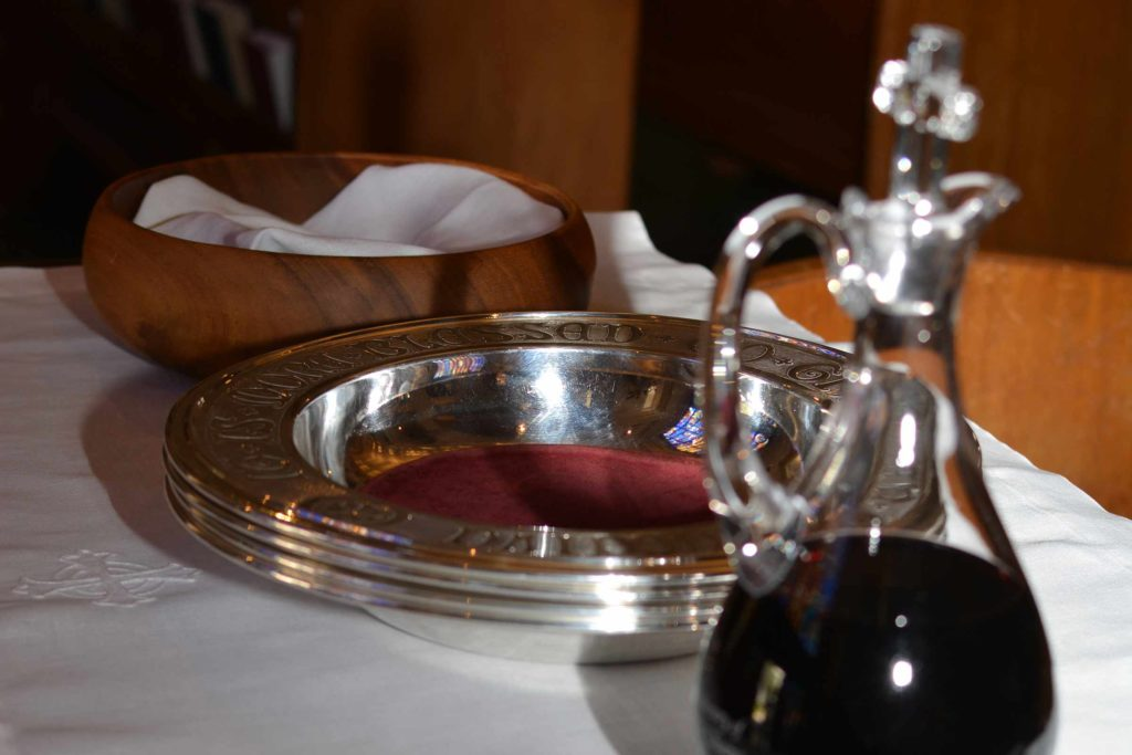 photo: elements of the communion service
